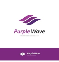 Purple wave logo vector image vector image