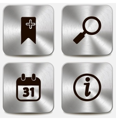 Set of web icons on metallic buttons vol3 vector image