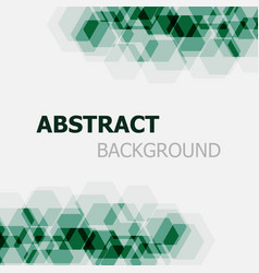 abstract dark green hexagon overlapping background vector image vector image