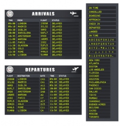 flight information set 1 delayed vector image vector image