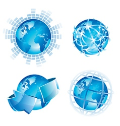 Global concepts vector image vector image