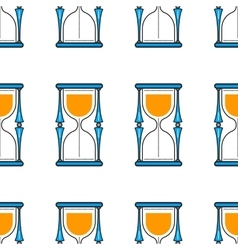 Hourglass Seamless pattern Flat color icon vector image vector image