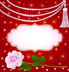 llustration wedding background with rose vector image