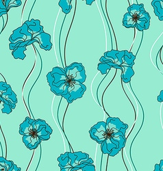 Seamless pattern of fancy flowers vector image vector image