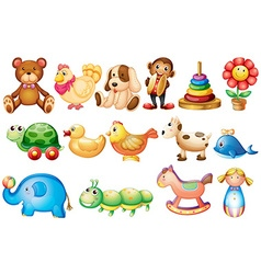 Set of different types of toys vector image vector image