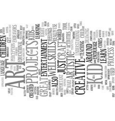 Art for kid text background word cloud concept vector