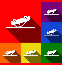 crashed car sign set of icons with flat vector image vector image