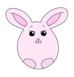 cute pink easter bunny vector image