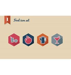 Menu food flat icons set vector image vector image