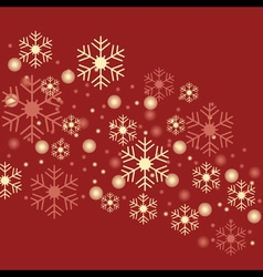 snowflake red background vector image vector image