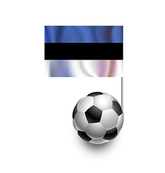 Soccer balls or footballs with flag of estonia vector