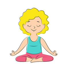 yoga pose lotos vector image vector image