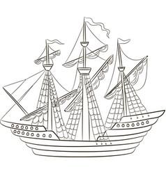 a sailing ship vector image vector image