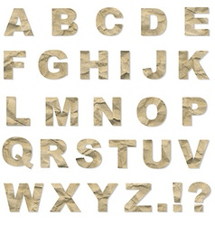 Alphabet From Crushed Paper vector image