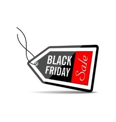 Black Friday Black price tag vector image vector image