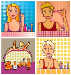 cosmetic design elements vector image