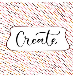 create handwritten decoration greeting card vector image