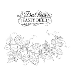 Decorative hops garland vector image