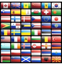 Flag icons vector image