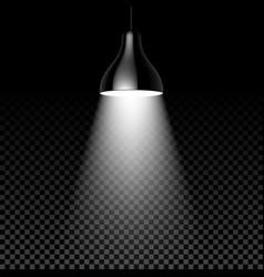 hanging lamp on black transparent background vector image vector image