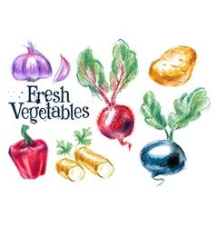 harvest logo design template fresh food vector image vector image