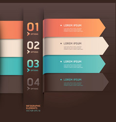 Modern arrow origami style options banner vector image vector image