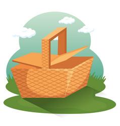 picnic time design vector image