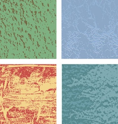 Set from four original textures vector image vector image