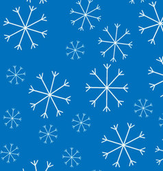 Snow pattern background vector image