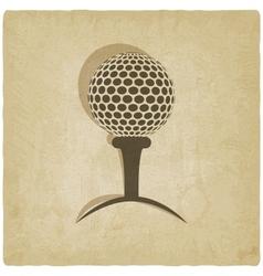 sport golf logo old background vector image