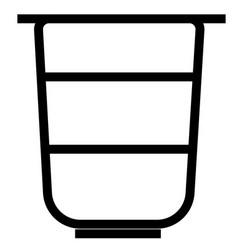 yogurt icon vector image