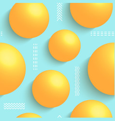 3d balls on blue background vector image