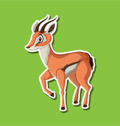 a gazelle sticker character vector image
