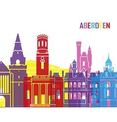 Aberdeen skyline pop vector image