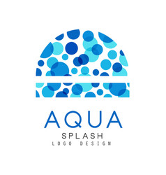 aqua splash logo design corporate identity vector image