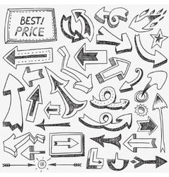 arrows doodles set vector image