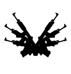automatic gun background element vector image