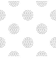 Ball for playing golf pattern flat vector