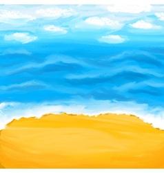 Beach sea sand Summer background vector image