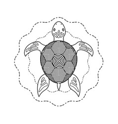 Black and white turtle coloring book vector