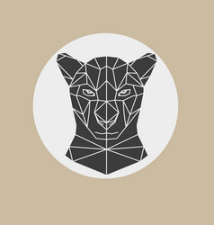 Black panther head geometric vector