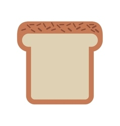 Bread loaf isolated icon design vector