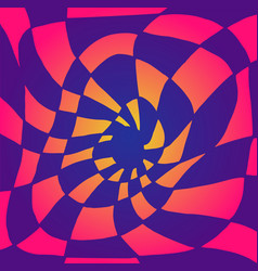 bright psychedelic twisted abstract divided into vector image