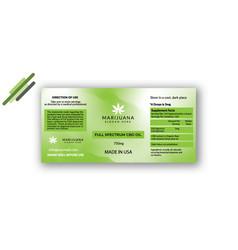 cannabis-oil-bottle-label-design vector image