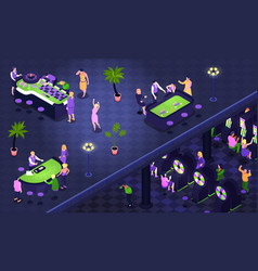 casino isometric background vector image