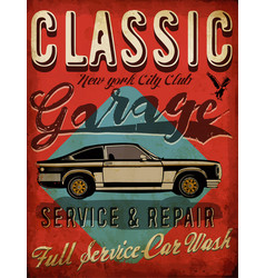 classic garage - eps10 tee graphic design vector image
