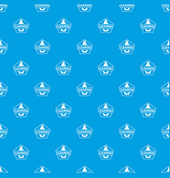 cleaning bottle pattern seamless blue vector image
