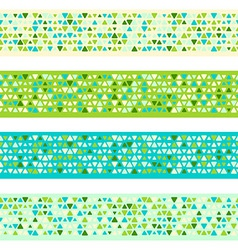 Colorful patterned borders vector image
