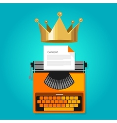 content is king seo web optimization vector image
