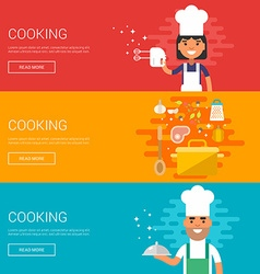 Cooking Home Cooking Restaurant Ricipe Flat Design vector